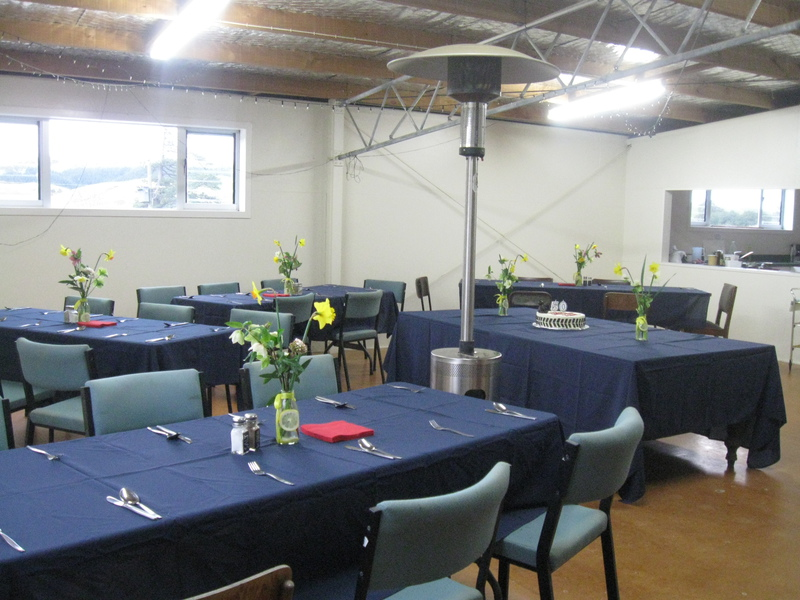Woolshed Dining area and Kitchen